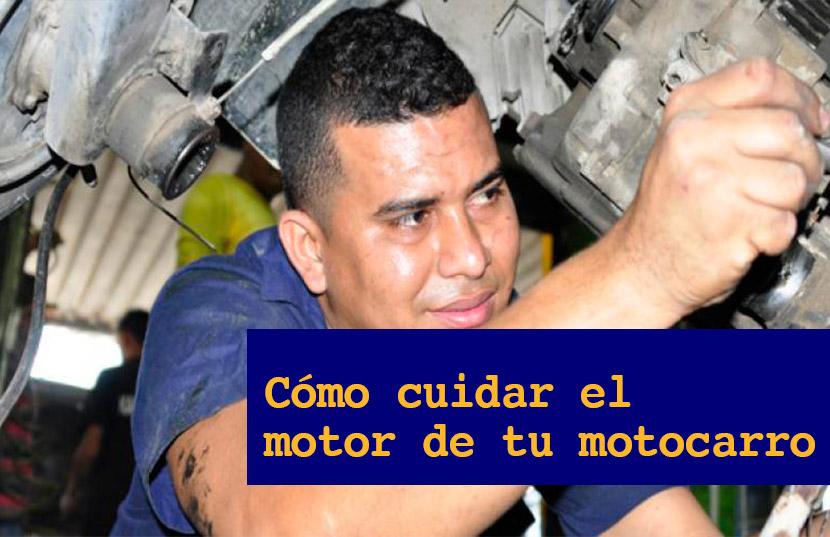 cuidado del motor de un motocarro