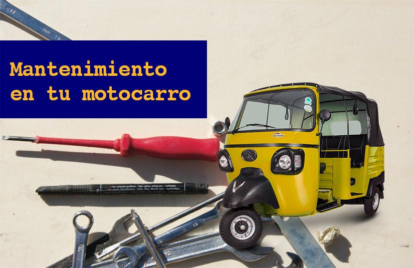 mantenimiento de un motocarro